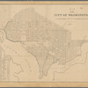 Map of the city of Washington