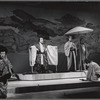 Yuki Shimoda, Isao Sato and Sab Shimono (both kneeling) in the stage production Pacific Overtures