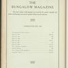 The Bungalow magazine, Vol. 1, no. 4