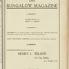 The Bungalow magazine, Vol. 1, no. 6