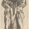 La Profumiera (the Censer), after the engraving by Marcantonio Raimondi