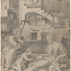 The Virgin With the Long Thigh, after Marcantonio's engraving after Raphael