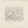 "Tenniel, Sir John. Another drawing of the illustration on p. 81 for C. L. Dodgson's ""Alice's adventures in Wonderland"""
