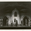 Paul Robeson, Averell Harris and cast in the stage production Othello