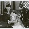Margaret Webster (Emilia), Uta Hagen (Desdemona) and Jose Ferrer (Iago in the stage production Othello