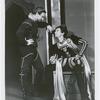 Jose Ferrer (Iago) and Philip Huston (Lodovico) in the stage production Othello