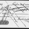 """Check for 100 [pounds] made out by Dickens to """"American fares"""". Removed from frame"""