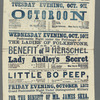 Broadside for the stage production The Octoroon, or Life in Louisiana