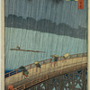 Sudden Shower over Shin-Ôhashi Bridge and Atake (Ôhashi Atake no yûdachi)