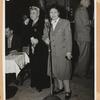 Sophie Tucker and Margaret Chang during war bonds fundraiser