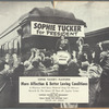 "Mercury Records promotional poster for Sophie Tucker recording ""Sophie Tucker for President"" (Mercury label 5839)"