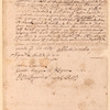 Bill of sale of a freehold to Michael Hansen Bergen from Albert Cornelis