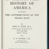 An Elementary History of America: including the contributions of the Negro race