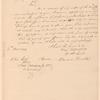 Edward Bradley to Andrew Jackson