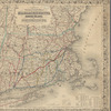 Colton's railroad & township map of Massachusetts, Rhode Island, and Connecticut