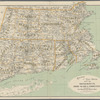 Railroad and post office map of Massachusetts, Rhode Island & Connecticut