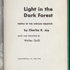 Light in the Dark Forest: people of the African equator