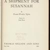 A Shipment for Susannah
