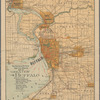 """The Matthews-Northrup up-to-date map of """"greater"""" Buffalo: showing the surrounding industrial developments, suburban residence districts, cities, villages, towns, and their connections by boulevards, streets, steam railroads and electric lines"""