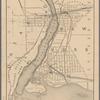 Map of Niagara Falls, suspension bridge, and vicinity