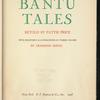 Bantu Tales