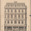 Architecture in Piccadilly: front elevation of house, No. 33