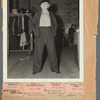 Sophie Tucker in wardrobe department wearing pants