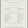 Winterset: Program from production at Adams Memorial Theatre, Williams College
