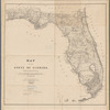 Map of the State of Florida: showing the progress of the surveys
