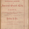 An historical account of the ancient Greek city of Paestum, [Title page]