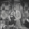 Sidney Poitier and unidentified young actor in the stage production  Raisin in the Sun