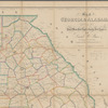 Map of Georgia and Alabama: exhibiting the post office, post roads, canals, rail roads, &c.