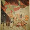 Watanabe no Tsuna and the Oni (demon) at the Rasho gate of Kyoto