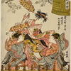 The Musume Dojoji performed on a float (dashi) contributed to the Kanda Festival (Kanda Gosairei) procession by the tradesmen of Sudamachi nichome, Edo