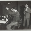 Leonard Bernstein and Benny Goodman in rehearsal