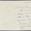 Autograph letter signed to Percy Florence Shelley, [22 June 1848]