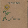 Cover illustration or Topeka High School yearbook The Sunflower