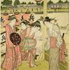 A dinner party at the Yamashiro tea-house on the bank of the River Sumida at Ryogoku