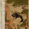 An elopement.  A man helping a woman down a ladder