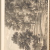 "Mounted ink wash landscape with drinking and grazing cows, signed ""J. B. [Zzioler?]"", leaf 23 (recto)"