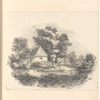 """Mounted pencil landscape with cottage, signed """"M. Payes 1832"""", leaf 33 (recto)"""