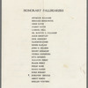 Lorraine Hansberry funeral program, list of Honorary Pallbearers