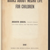 Books about Negro Life for Children: 1946
