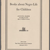 Books about Negro Life for Children: 1961