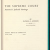 The Supreme Court: America's judicial heritage