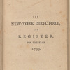 New York City directory, 1793