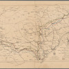 Map showing route of marches of the army of Genl. W.T. Sherman, from Atlanta, Ga. to Goldsboro, N.C. To accompany the report of operations from Savannah, Ga. to Goldsboro, N.C.