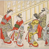 Courtesans amusing themselves with various pastimes