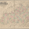 Lloyd's official map of the state of Kentucky: compiled from actual surveys and official documents, showing every rail road & rail road station with the distances between each station