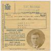 James H. Williams' chauffeur's license